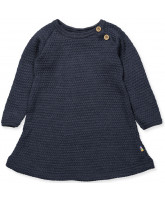 Kleid in Navy aus Wolle