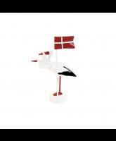 Storch mit Flagge