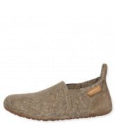 Hausschuhe aus Wolle in Camel