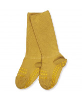 Stoppersocken aus Bambus in Mustard