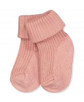 Babysocken in Peach Rose
