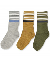 3er-Pack Socken in Multi Army