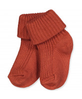Babysocken in Rust Clay