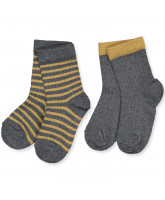 2er-Pack Socken in Dark Grey