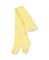 Ripp-Strumpfhose in Light Yellow
