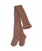 Ripp-Strumpfhose in Sienna Brown