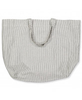 Tote Bag in Black Pin Stripe