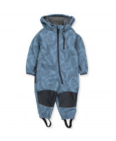 Softshell-Overall in Blau