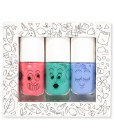 3er-Pack Jungle - Nagellack für Kinder