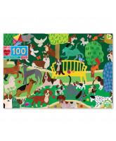 Puzzle 100 pcs - Hunde spielen