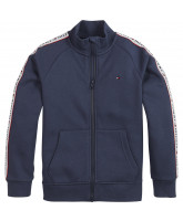 Zip-Jacke in Navy
