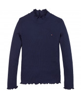 Langarmshirt in Navy