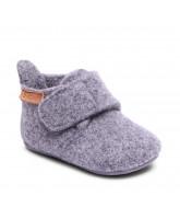Hansschuhe aus Wolle in Grau