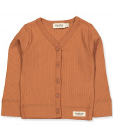 Ripp-Cardigan in Desert Red