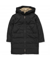 Winterjacke in Black/Caramel
