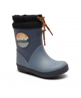 Thermo Wintergummistiefel in Blau