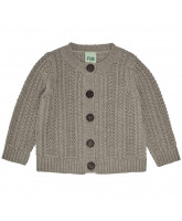 Cardigan aus Wolle in Beige