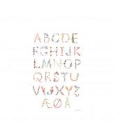 Poster - Dänisch Alphabet A3
