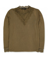 Langarmshirt in Military Olive