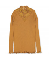Bio Langarmshirt in Golden Mustard