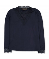 Langarmshirt in Dark Blue