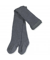 Strumpfhose mit Wolle in Middle Grey