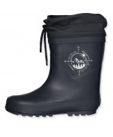 Thermo-Wintergummistiefel mit Navy