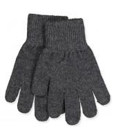 Fingerhandschuhe aus Wolle in Antrazite