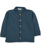 Cardigan aus Wolle in Blau