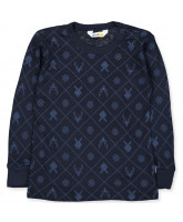 Bio Langarmshirt in Navy