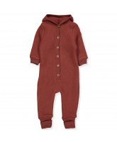 Fleece-Overall aus Wolle in Madder Brown