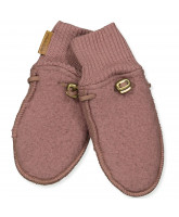 Fleece-Handschuhe aus Wolle in Marron
