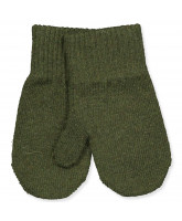 Handschuhe aus Wolle in Military Olive
