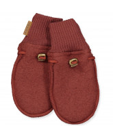 Fleece-Handschuhe aus Wolle in Madder Brown