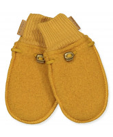 Fleece-Handschuhe aus Wolle in Golden Brown