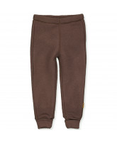 Fleece-Hose aus Wolle in Puce Brown