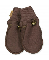 Fleece-Handschuhe aus Wolle in Puce Brown