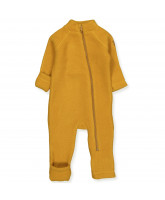Fleece-Overall aus Wolle in Golden Brown