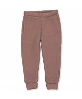 Fleece-Hose aus Wolle in Marron