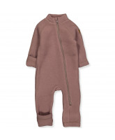 Fleece-Overall aus Wolle in Marron