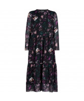 Kleid Floral Maxi Mesh