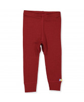 Leggings aus Wolle in Rot