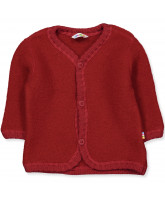 Fleece-Cardigan aus Wolle in Rot