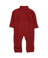 Fleece-Overall aus Wolle in Rot