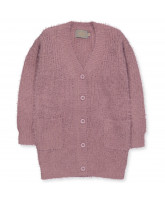 Lange-Cardigan in Lila