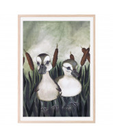 Poster Duck Friends 50x70 cm