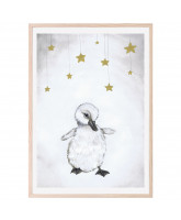 Poster The beautiful duckling 50x70 cm