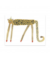 Wanddekoration Smiling Leopard Elvis
