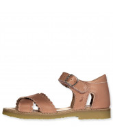 Sandalen Cross-over scallop