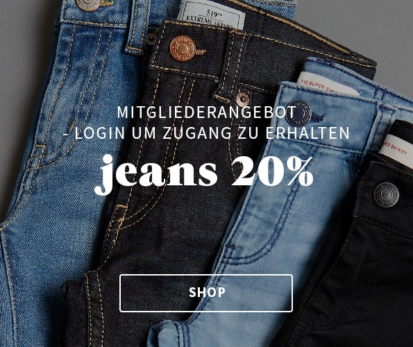 20% auf alle jeans für my house mitglieder